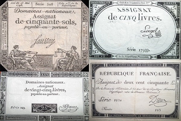 1793 Issue - Assignats Domaines Nationaux