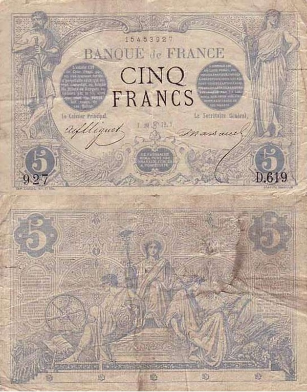 1871-1874 Issue - 5 Francs