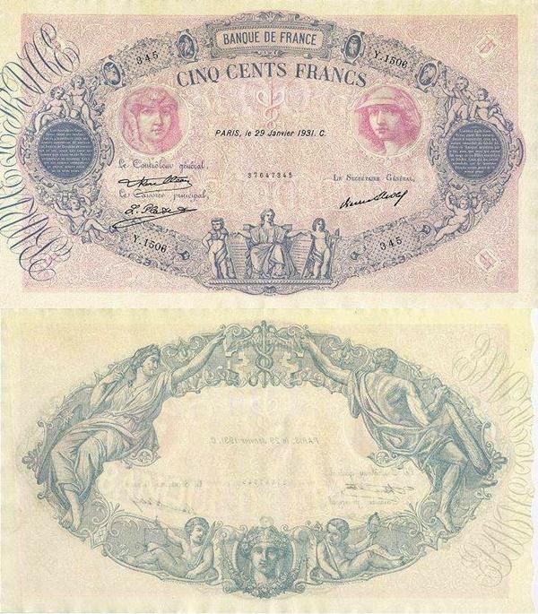 Emisiunile 1888-1937 - 500 Franci
