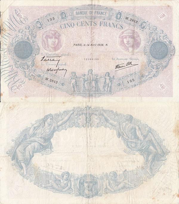 1888-1940 Franci - 500 Francs