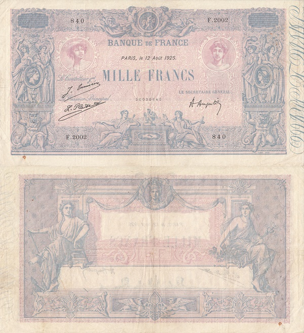 1889-1926 Issue - 1000 Francs