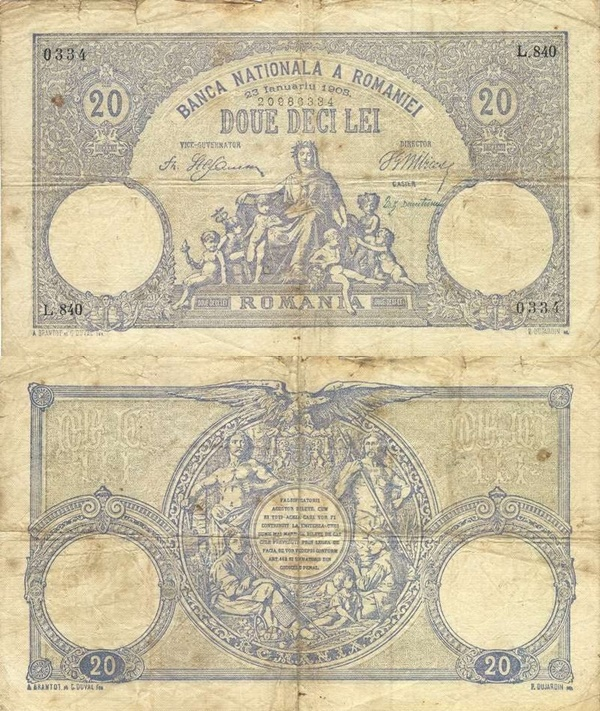 Emisiunea 1896-1908 - 20 Lei