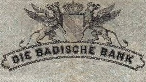 1907 Issue -  Badische Bank (Baden)