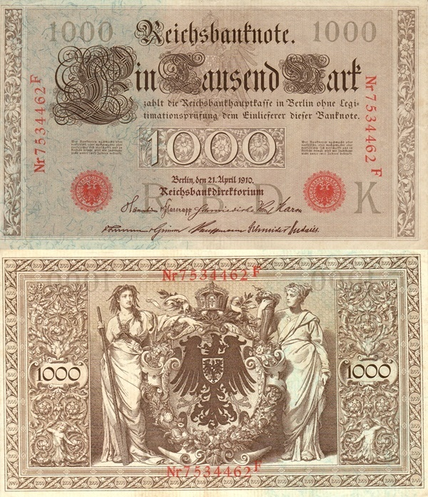 1910 Issue - 1000 Mark