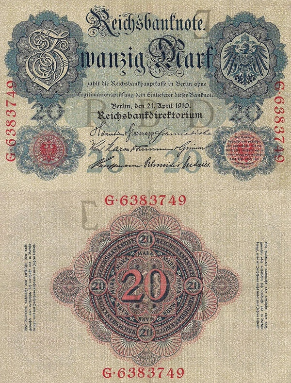 1910 Issue - 20 Mark