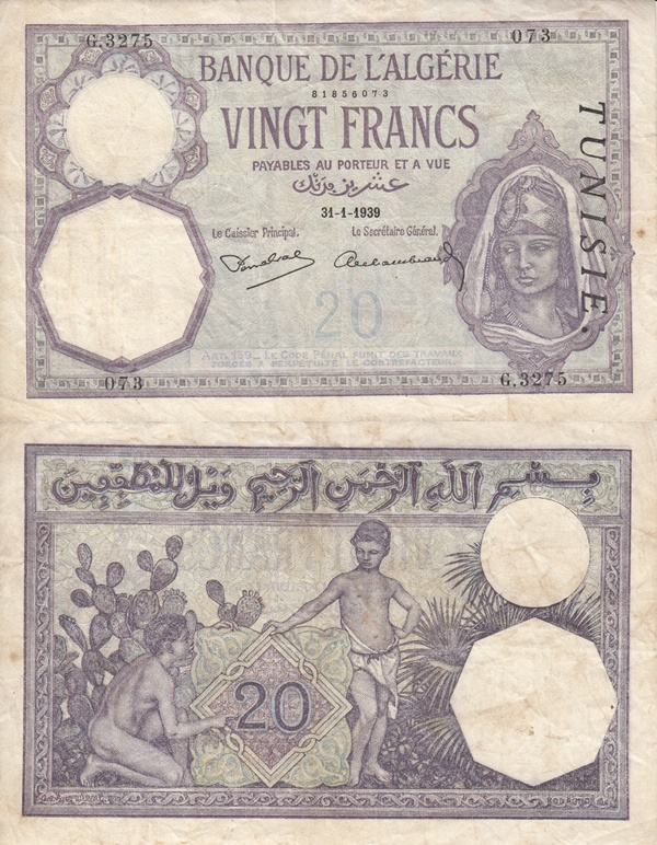 1914-1941 Issue - 20 Francs