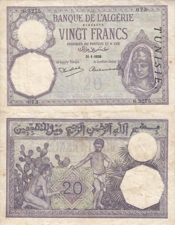 Emisiunea 1914-1941 - 20 Franci