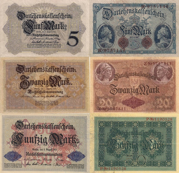 1914 First Issue - Darlehenskassenschein