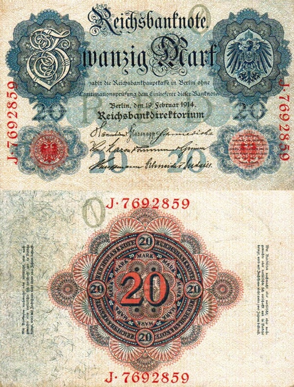 1914 Issue - 20 Mark