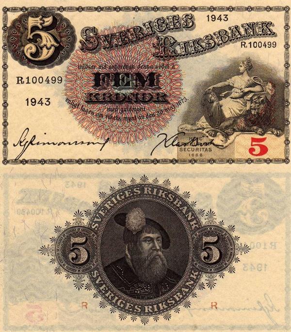 Emisiunea 1918-1952 - 5 Coroane