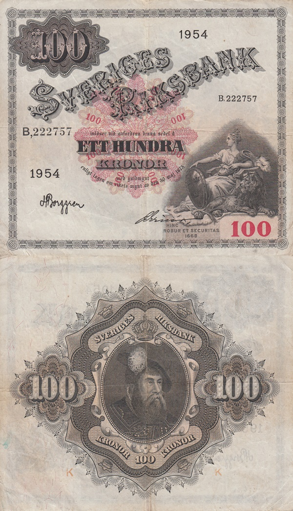 Emisiunea 1918-1954 - 100 Coroane