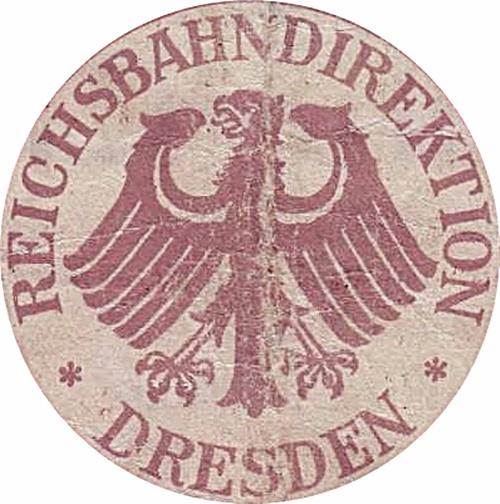 Emisiunea 1923 - Căile Ferate Germane (Deutsche Reichsbahn) - Reichsbahandirektion - Dresda