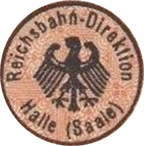 1923 Issue - German State Railroad (Deutsche Reichsbahn) - Reichsbahandirektion - Halle