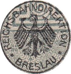 Emisiunea 1923 - Căile Ferate Germane (Deutsche Reichsbahn) - Reichsbahandirektion - Breslau
