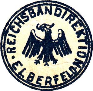 1923 Issue - German State Railroad (Deutsche Reichsbahn) - Reichsbahandirektion - Elberfeld