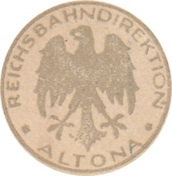 1923 Issue - German State Railroad (Deutsche Reichsbahn) - Reichsbahandirektion - Altona