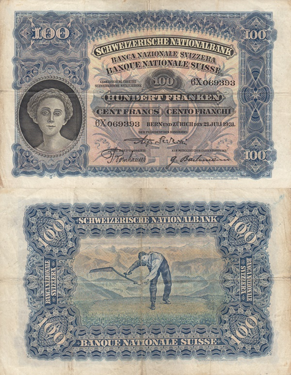 1924-1949 Issue - 100 Franks
