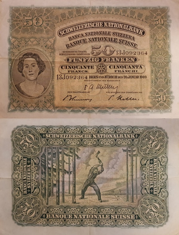 1924-1955 Issue - 50 Franken