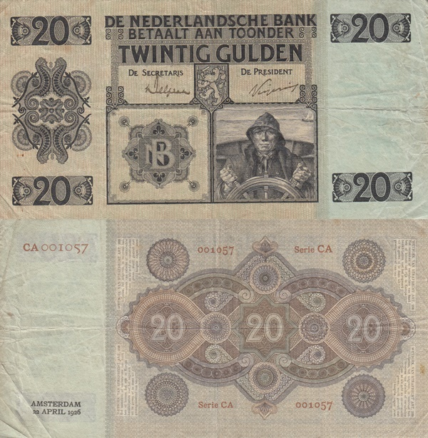 Emisiunea 1926-1938 - 20 Gulden