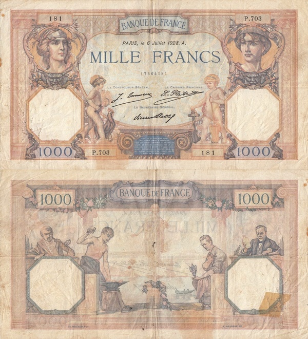 1927-1937 Issue - 1000 Francs
