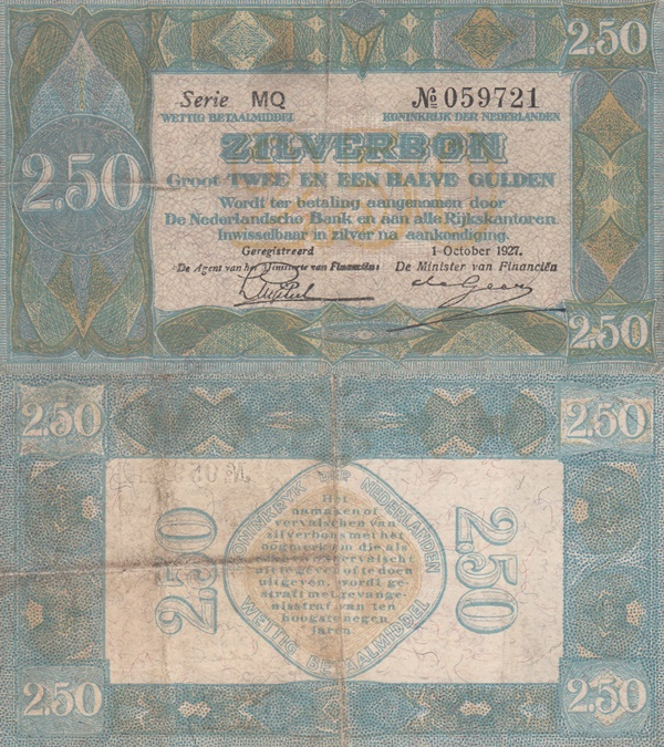 1927 Issue (ZILVERBON)