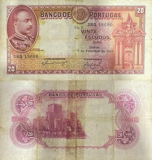 Emisiunea 1929-1940 - 20 Escudos