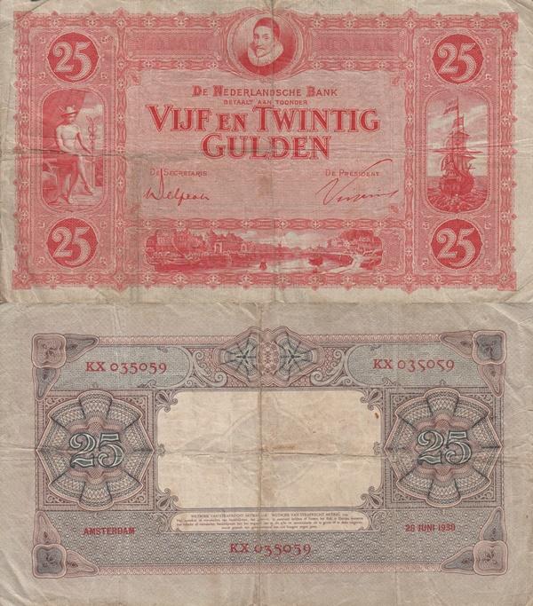 Emisiunea 1929-1930 - 25 Gulden