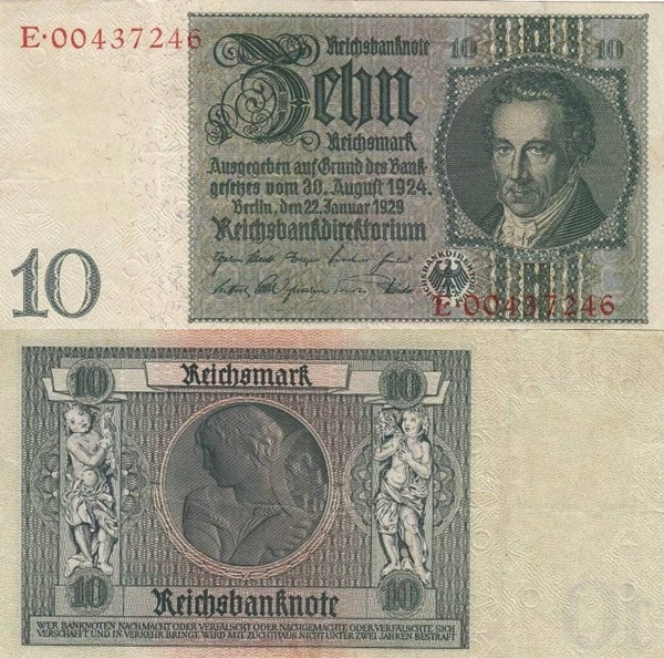 1929; (1945) Issue - 10 Reichsmark