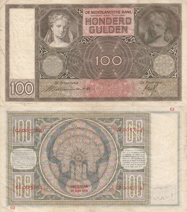 1930-144 Issue - 100 Gulden