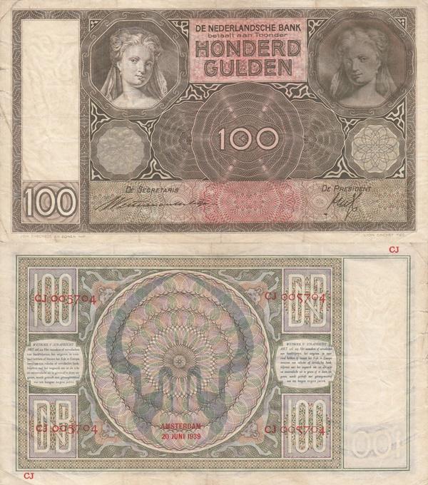Emisiunea 1930-1944 - 100 Gulden