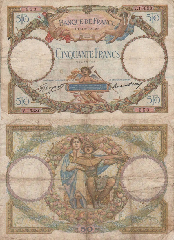 1930-1934 Issue - 50 Francs