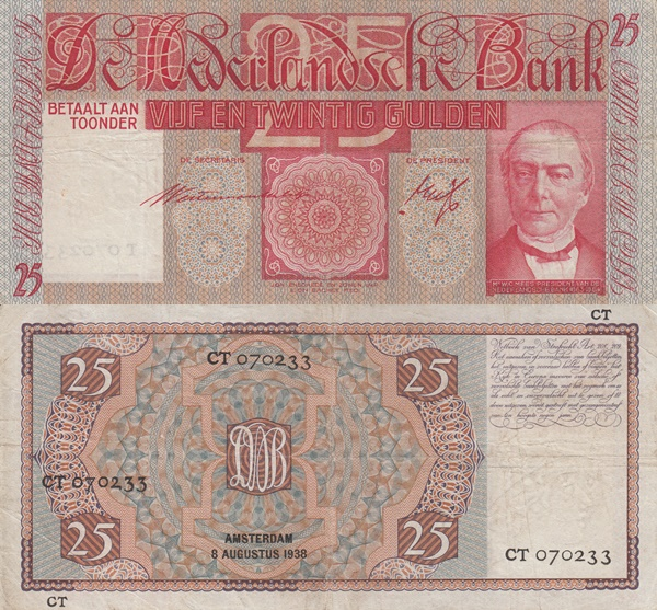 1931-1941 Issue - 25 Gulden