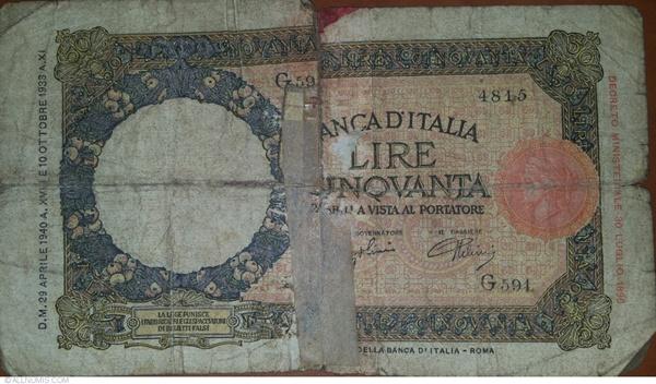 1933 - 1941 Issue - 50 Lire (Banca d'Italia)