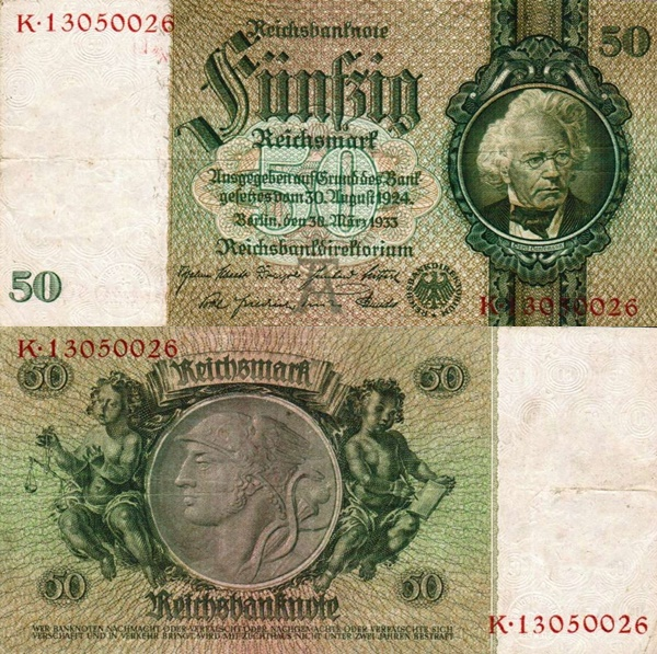 1933; (1945) Issue - 50 Reichsmark