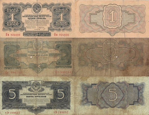 1934 Issue - Gold Rubles
