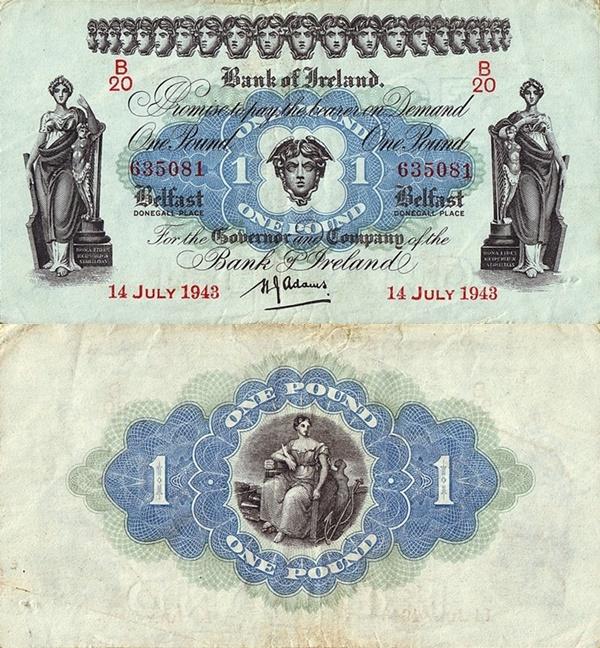 1936-1943 Issue - Bank of Ireland