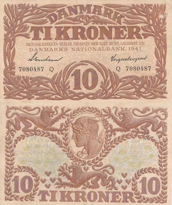 1937-1943 Issue - 10 Kroner