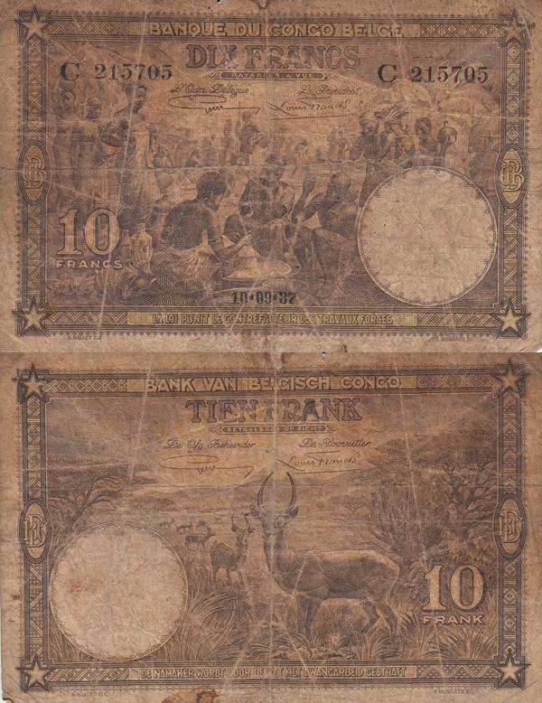 Emisiunea 1937 - 10 Franci