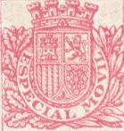 """Emisiunea 1938 -  Timbre poştale/Discuri de carton - """"Especial Movil"""" - Stema între ramuri de frunze"""
