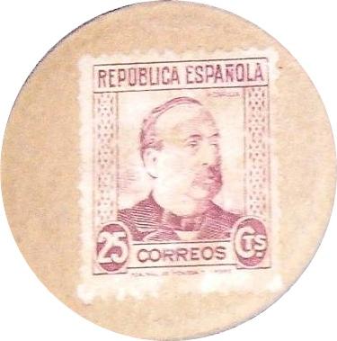 """Emisiunea 1938 -  Timbre poştale/Discuri de carton - Seria Correos """"Portret"""""""