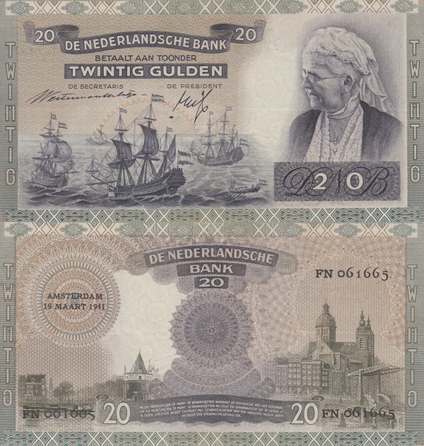 1939-1941 Issue - 20 Gulden