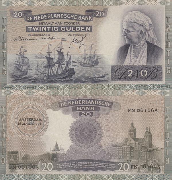 Emisiunea 1939-1941 - 20 Gulden