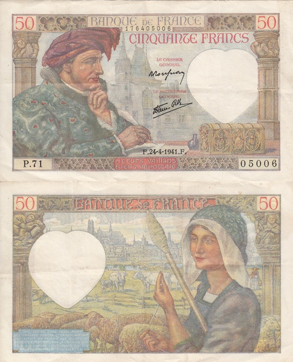 1940-1942 Issue - Francs