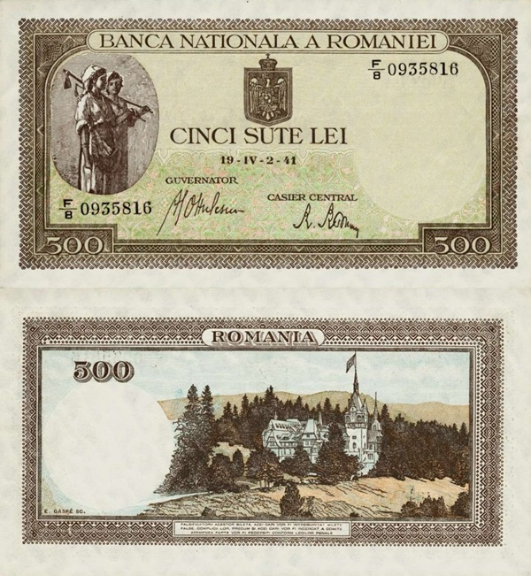1940-1943 Issue - 500 Lei