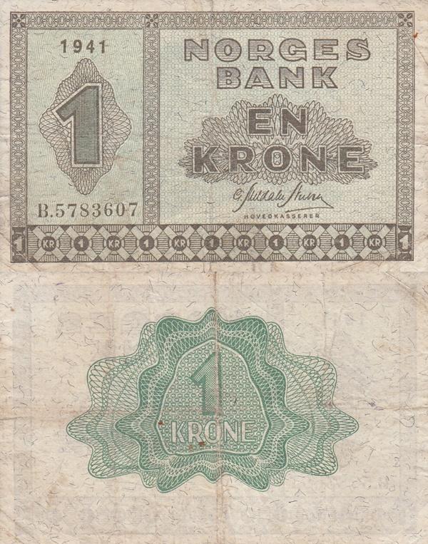 Emisiunea 1940-1950 - 1 Coroană