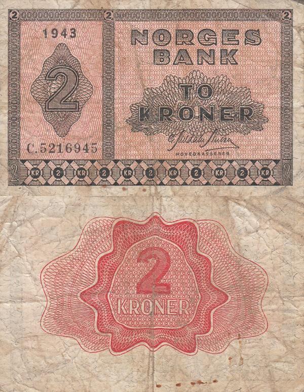 1940-1950 Issue - 2 Kroner
