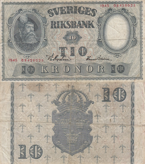 1940-1952 Issue - 10 Kronor