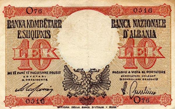 Ocupatia Italiana  - Emisiunea 1940 ND