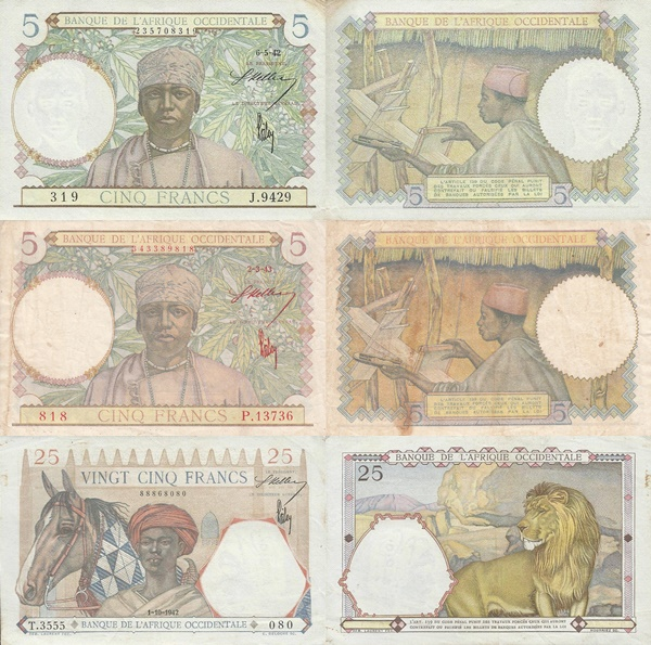 1941-1942 Issue - Banque de l'Afrique Occidentale