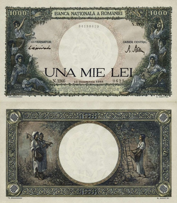 1941-1945 Issue - 1000 Lei